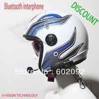 Free Shipping+hot selling,Real two-way wireless communication 500M Motorcycle BT Bluetooth Intercom Headsets Helmet Intercom