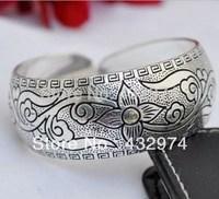 New Tibetan Tibet Silver Totem Bangle Cuff Bracelet X690   a51