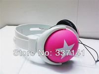 Free Shipping Mix Style 3.5mm Star Earphone Headphone Headset Ear Hook Earphone For MP4 MP3 Phone Laptop Retail&Wholesale