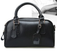 Fashionable high-end leather handbags retro handbag black