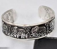 Tribe Jewellery Tibetan carved luck Elephant Cuff Bracelet  a36