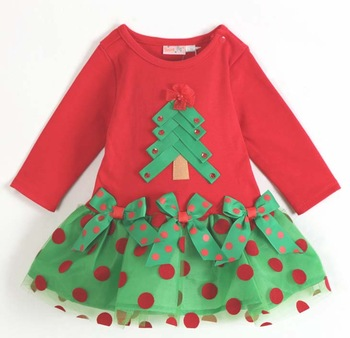 Koopo christmas female child long-sleeve dress red dress p32