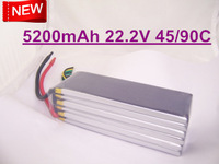New 22.2V 5200mAh 45C 90c  6S 6Cells 22.2Volt RC LiPo Li-Poly Battery  for 700 800 900 helicopters