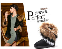 Promotion !! Free shipping 2013 fashion women boots imitation fox winter women boots ankle