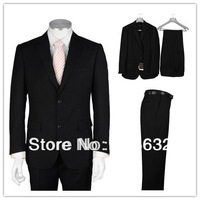 2014 Custom Fashion Free shipping new arrival Black  wedding business men suits Groom Wear A101