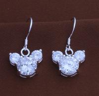 China wholesalekids crystal earring sterling silver jewelry earrings, children earrings YAE191
