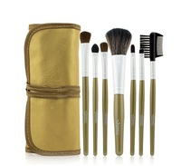 Stock Clearance 7Pcs Print Brand Logo Makeup Brushes Professional Cosmetic Make Up Set Free Shipping