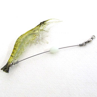 2pcs Noctilucent Soft Silicone Simulation Prawn Shrimp Fishing Lure Hook Bait[01040176x2]