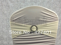 Hot Sale Ivory Spandex Bands / Lycra Band /Chair Covers Sash With Round Buckle For Wedding & Banquet