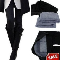 Thick bamboo charcoal fiber modal thickening double layer warm pants 310g ball solid color legging-1C09B
