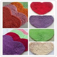 Bedroom Floor Love Heart Carpet Kitchen Bath Rug Chenille Rugs Mat Doormat Room Pad