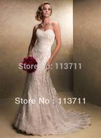 New White/ivory Lace Wedding Dress Custom Size 2-4-6-8-10-12-14-16-18-20-22
