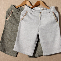 2013 summer men's clothing male personality embroidery cloth welshwomen linen casual shorts knee-length pants male