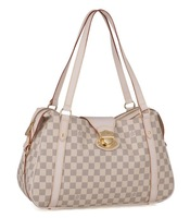 Women's handbag stresa white checkerboard palid shoulder bag n42220 n42221 women's shopping bag
