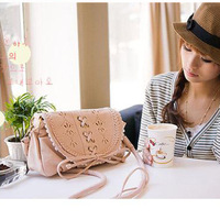 2012 Women laciness one shoulder small bags women's handbag three-color