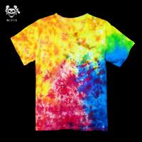 Handmade tie-dyeing t-shirt hallucinogenic gradient HARAJUKU hippie skateboard