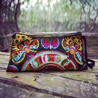 Hippie vintage colorful embroidery messenger bag shoulder bag