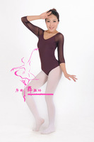 2013 adult autumn&winter ballet dance leotard Milk fiber/silk net long-sleeve dance clothes leotard straitjacket