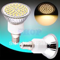 1pcs E14 Warm White 60 SMD 180V - 240V Screw Spotlight 220V 230V 60 LED Light Bulb Lamp