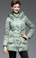 jackets women 2013 Semi finished YALU down coat slim fashion sweet medium-long Women yb61000  outdoor jacket