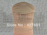 Hot Sale Baby Pink Spandex Bands / Lycra Band /Chair Covers Sash With Heart Shape Buckle For Wedding & Banquet