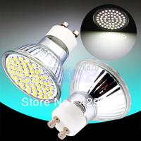 1pcs GU10 Pure White 60 SMD 180V - 240V Spotlight 220V 230V 60 LED Light Bulb Lamp