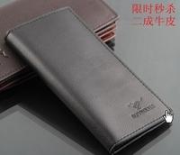 Cowhide wallet male long design genuine leather vertical men's wallet