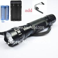 501B T6 UltraFire WF-501B Cree XM-L T6 1300LM LED Flashlight +2*18650 3000mAh battery+1*Charger +Remote switch