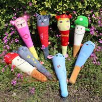 Free Shipping Sallei toy cartoon doll back massage stick knock back stick massage hammer plush toy birthday gift