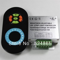 DC12/24V 12A 433MHz Brightness Adjustable LED STRIP Dimmer for Single Color RF LED Remote controller