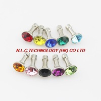 Free shipping 10pcs Bling Anti Dust Proof Ear Cap For Mobile iPhone 4S 4G 3GS iPad 1 2 3 iPod