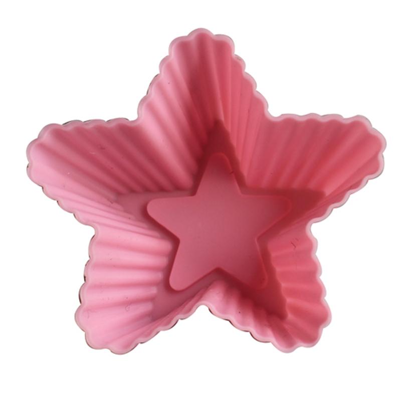 Molde do bolo de sílica gel molde b07 microondas food forno molde de cinco pontas formato de estrela copo cavalo grátis frete(China (Mainland))