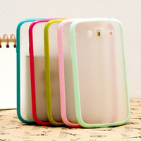 Ultra Thin Bumpers Frame PC+ TPU back clip Cover Case Sking For Samsung Galaxy Grand Duos  i9082,Free Shipping