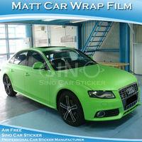Free Shipping 1.52x30M 5FTx98FT High Quality Matt Green Car Wrap Vinyl Film/Matt Sticker For Car With Air Bubble Free
