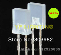 Wholesale Green(568-575nm)257 rectangle dip led white diffused 2.0-2.5V