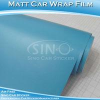 Free Shipping 1.52x30M 5FTx98FT High Quality Matt Light Blue Car Film/Matt Sticker For Car With Air Bubble Free