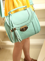 2013 candy color tassel handbag messenger bag fashion vintage women's bags