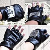 2014 new design naruto gloves kakashi Leather gloves cosplay 2pcs free shipping