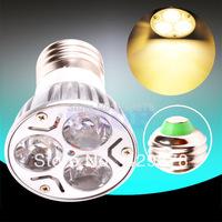 5pcs E27 Warm White 3X2W 85V - 265V Spotlight 220V 110V Home LED Light Bulb Lamp