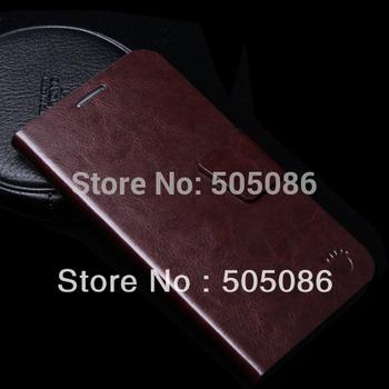 2pcs/lot Free shipping in stock 100% original Lenovo K900 leather case;protective case for lenovo K900 book case bag