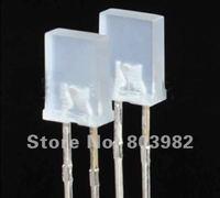 Good quality Orange diffused led diodes 2x5x7 square led 600-610nm 2.0-2.5V