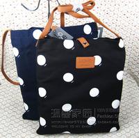 Dot crossbody pocket polka dot polka dot shopping bag school bag eco-friendly one shoulder bag