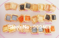 DuoYing Jewelry Free shipping New Design Earring Crystal Square Gold Plated Earring Lot RGER2210