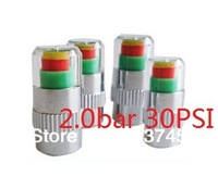 2SET = 8PCS car Tire Pressure Monitor Valve Stem Cap Sensor Indicator 3 Color Eye Alert 2.0bar 30PSI