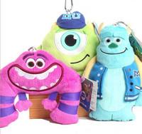 Free Shipping Monsters Inc Mike Wazowski toy coin purse, Monsters University Mike Wazowskidoll plush toy 10 pcs/lot