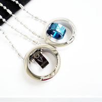 A 316l titanium steel necklace lovers necklace pendant a pair of