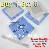 80*80mm BGA Reballing Station New Reballing Kit With Handle BGA Repair Station Blue Aluminum Alloy Free Shipping