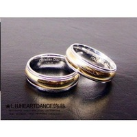 Titanium lovers ring a pair of