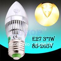 12pcs 6W 3x2W Warm White E27 Home Candle Bulb LED Light Lamp 85-265V 110V 220V 230V