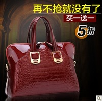Brand women's handbag 2013 crocodile pattern handbag cross-body bags female luxury quality women's handbag evening bag bridal
